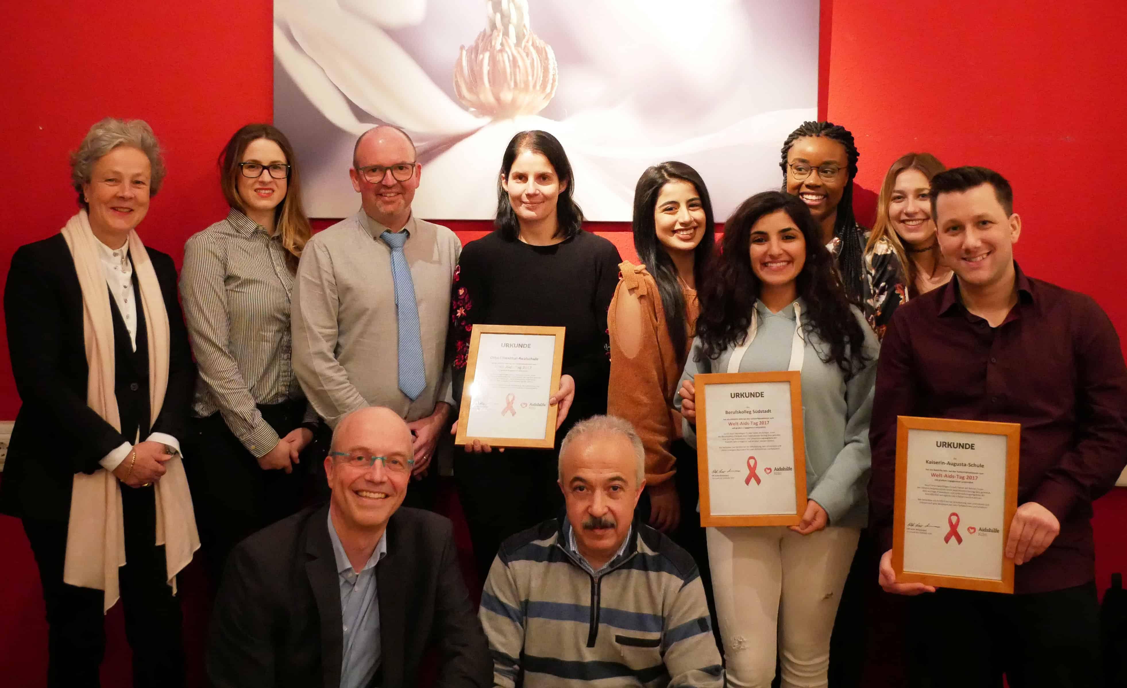 Aidshilfe Köln belohnt Kölner Schulen für ihr Engagement beim Welt-Aids-Tag