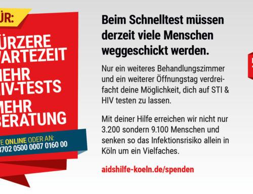 Schnelltest-Angebot der Aidshilfe Köln wird überrannt