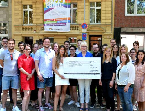 Aidshilfe Köln freut sich über 5.000 Euro Spende von Cannamedical®