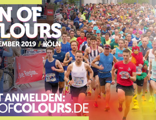 Planschemalöör starten beim Run of Colours am  21. September im Rheinauhafen Köln