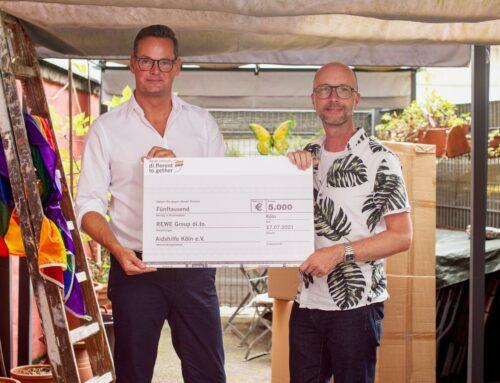 Tolle Überraschung für die Aidshilfe Köln